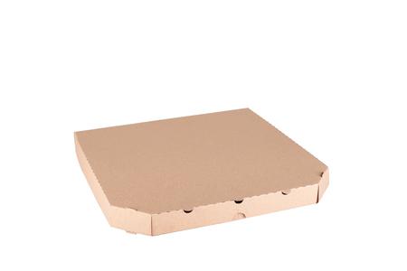 pizza box: Caja de pizza aislado en un fondo blanco