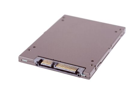 solid state drive: Closeup photo of a SSD on white background