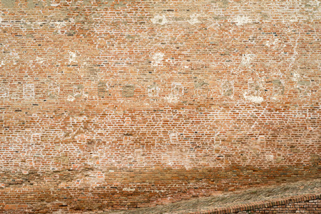Brick wall texture for background. Weathered wall