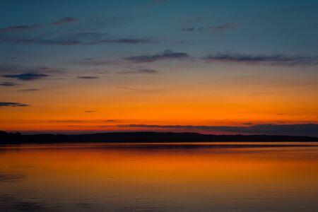 Beautiful sunsetat the lake. Nature photo
