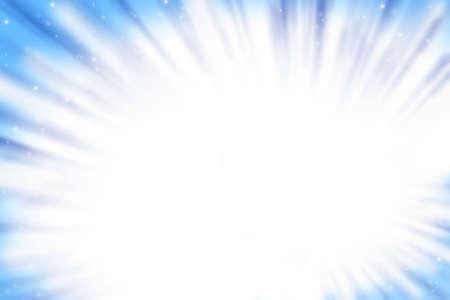 White light burst on blue