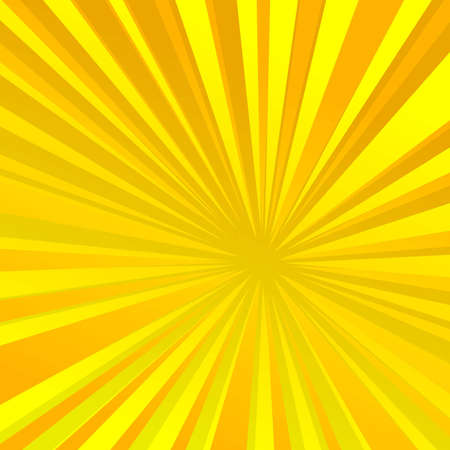 Radiating rays - yellow orange