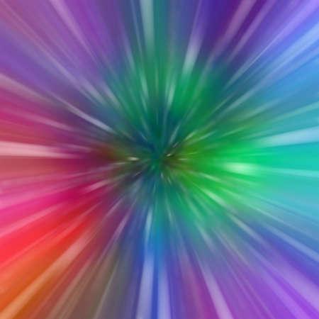 radiating: Zoom di luce multicolore Archivio Fotografico