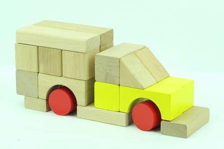 Toy block van