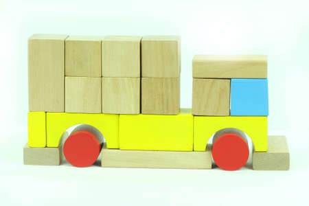 Toy blocks truck photo