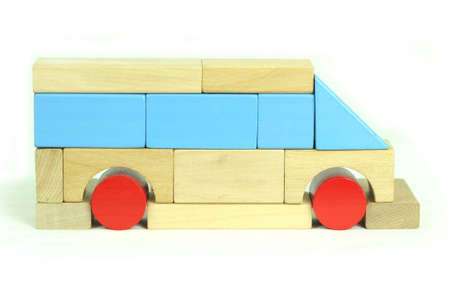 Toy blocks bus