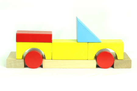 Toy blocks convertible Stock Photo