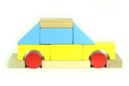 Toy blocks car Stock Photo