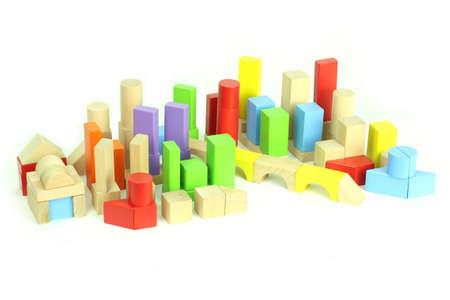 Toy city blocks Stock Photo
