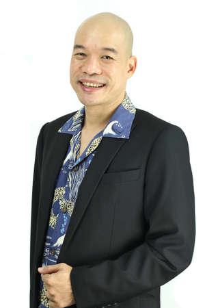 Asian man smiling