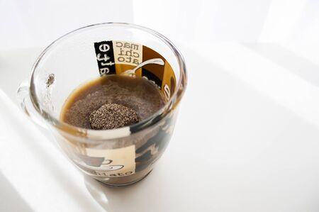 Instant coffee in a mug Фото со стока
