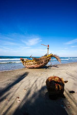 ne: Mui Ne Fishingboat Stock Photo