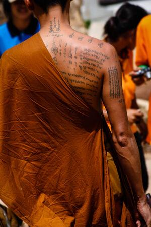 phnom penh: Tattooed Monk, Phnom Penh, Cambodia Editorial