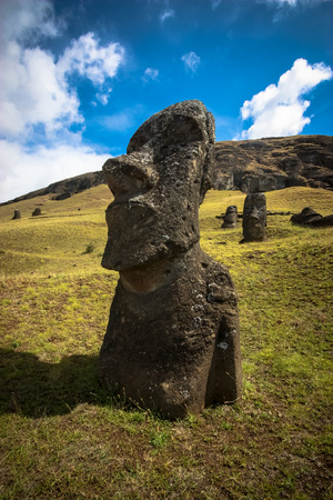 moai: Easter Island Moai Stock Photo