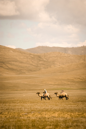 Mongolian Nomads Stock Photo - 32816029