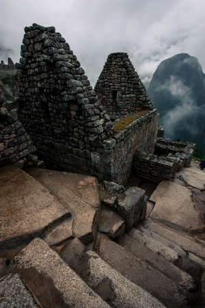 indian artifacts: Machu Picchu landscape  Stock Photo