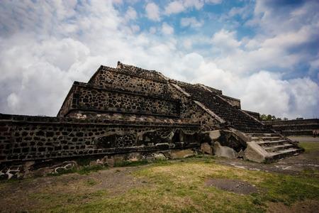 pyramid peak: Aztec Pyramid Stock Photo