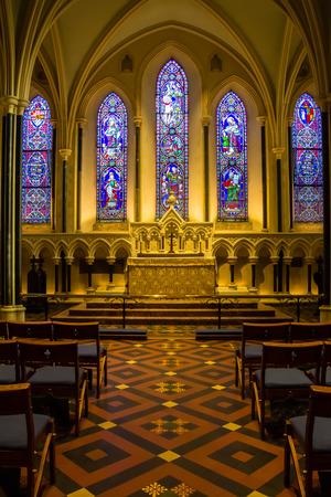 Saint Patrick Cathedral  Interior, Dublin Ireland