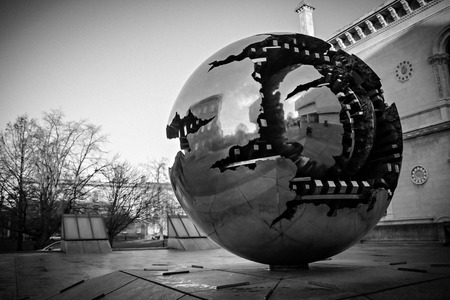 Modern Sphere Sculpture, Trinity College, Dublin, Ireland