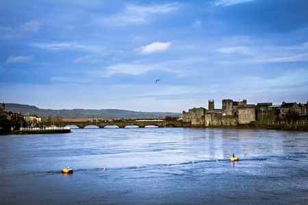 King John Castle in Limerick, Ireland Editorial