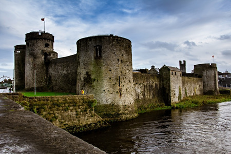 King John Castle in Limerick, Ireland Redakční