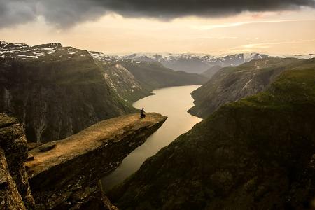 Trolltunga, Norway Banco de Imagens