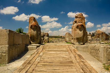 Ruins of ancient city Hattusha: the Hittite Capital, Turkey Banco de Imagens