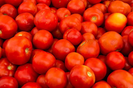 Red, colourful, ripe tomato background