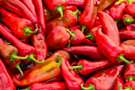 Red, colourful bell pepper background Banco de Imagens
