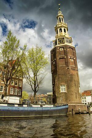 Coin Tower (Munttoren) in Amsterdam, the Netherlands