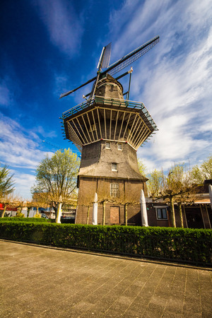 Windmill in Amsterdam, the Netherlands