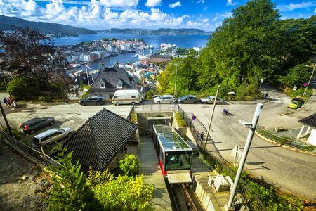Floyen Railway, Bergen, Norway Banco de Imagens