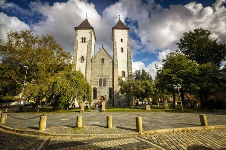Church of St. Mary in Bergen, Norway Banco de Imagens