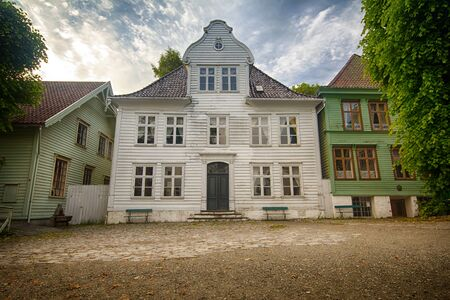 The open air museum Gamle Bergen, Norway Editorial