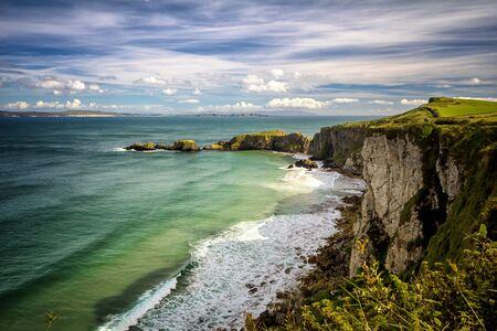 Northern Ireland clifftop Banco de Imagens