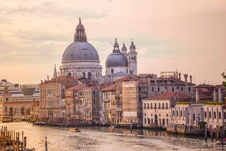 Old cathedral of Santa Maria della Salute in Venice, Italy Editorial