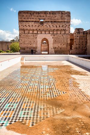 El Badi Palace, Marrakech, Morocco Redakční