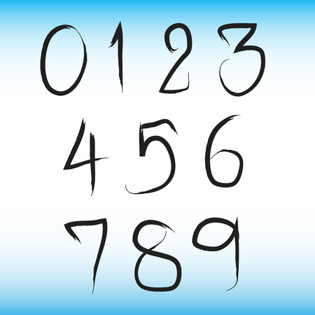 numbers clipart: Number art
