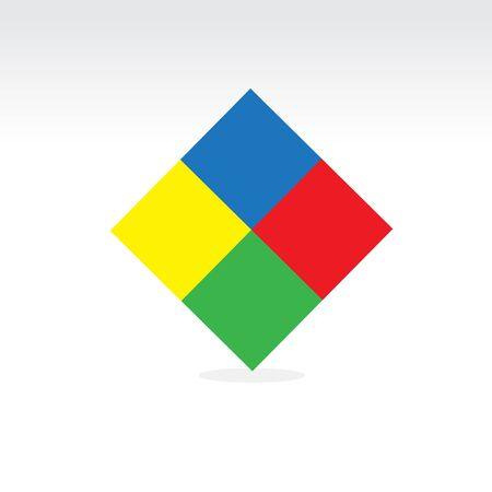 square shape: Square colorful vector shape design