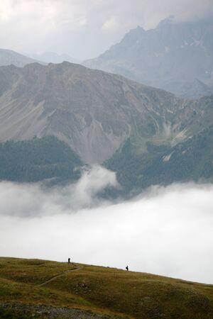 Queyras Mountains in France Stock Photo
