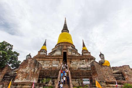 chaimongkol: Pagoda of Wat Yai Chaimongkol, Ayutthaya. In the cloudy day