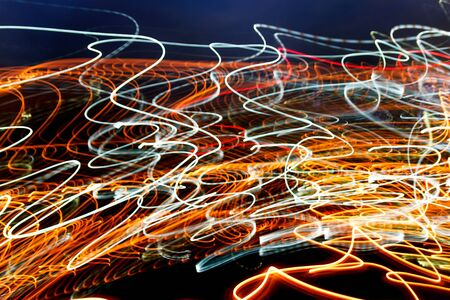 messy: Abstract blur messy light trail. Stock Photo