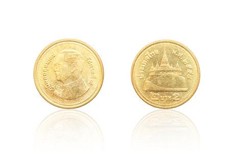 Zurück Von Thai Münze 2 Baht Lizenzfreie Fotos Bilder Und Stock