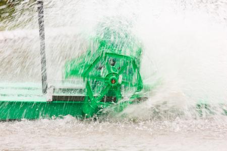water turbine: Motion of water turbine. Stock Photo