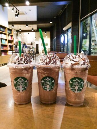 Starbucks cold blend chocolate. Editorial