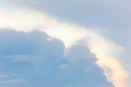 atmospheric phenomena: Iridescent cloud.