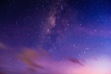 Milkyway on the sky with grain and noise. Stock Photo
