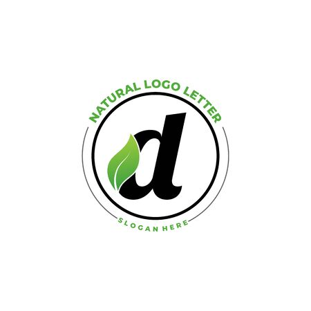 Letter D With Leaf Logo. Green leaf logo icon vector design. Landscape design, garden, Plant, nature and ecology vector. Editable file.