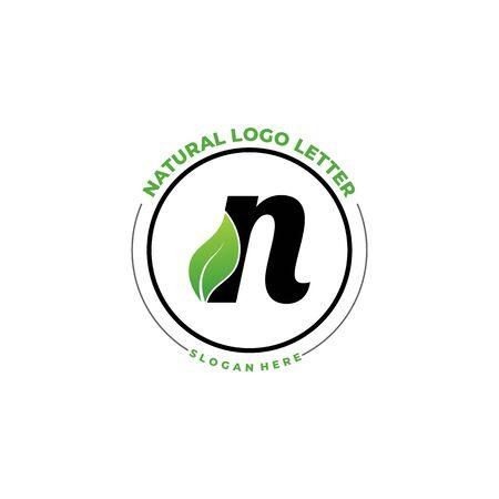 Letter N With Leaf Logo. Green leaf logo icon vector design. Landscape design, garden, Plant, nature and ecology vector. Editable file. Logo