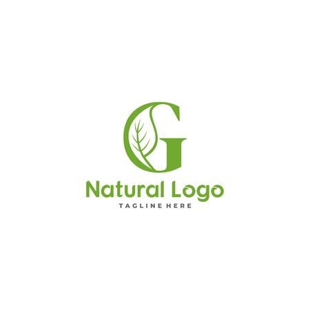 Letter G With Leaf Logo. Green leaf logo icon vector design. Landscape design, garden, Plant, nature and ecology vector. Ecology Happy life Logotype concept icon. Editable file.